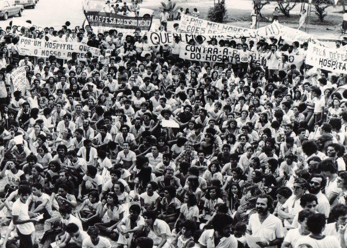 Movimento estudantil na década de 90.