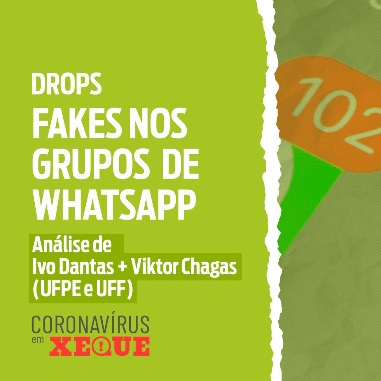 Fakes nos grupos de WhatsApp